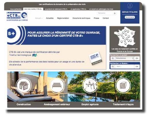 Un nouveau site web pour la marque de certification CTB-B+