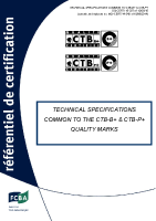 Technical spécifications common to the CTB-B+ & CTB-P+ marks
