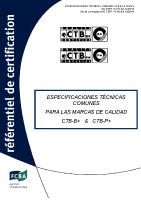 Especificaciones tecnicas para las marcas CTB-B+ & CTB-P+