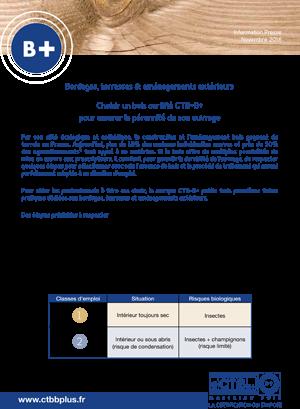 Dossier de presse : les trois premières fiches pratiques CTB-B+