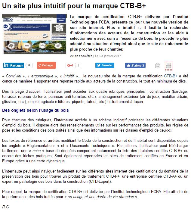 ee90421f488 Le nouveau site web CTB-B+ mis à l honneur dans un article de presse