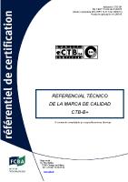 Referencial tecnico de la marca de calidad CTB-B+